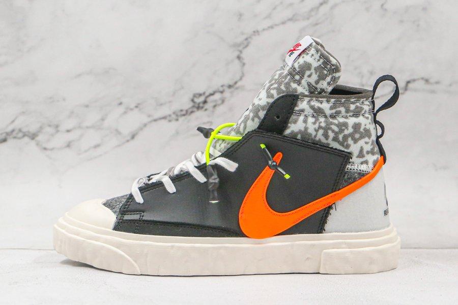 READYMADE x Nike Blazer Mid Black Vast Grey-Volt-Total Orange