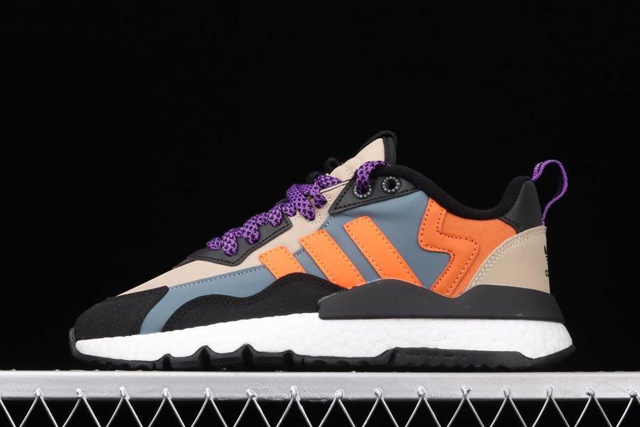 adidas Nite Jogger Winterized Black Grey Orange Purple
