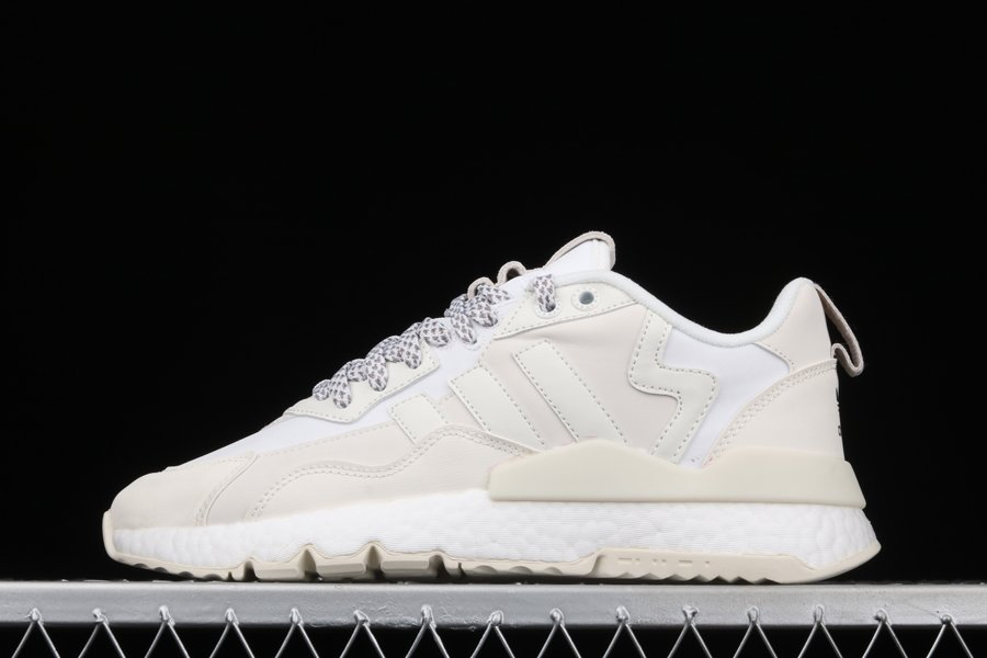 adidas Nite Jogger Winterized Crystal White With Reflective Accents