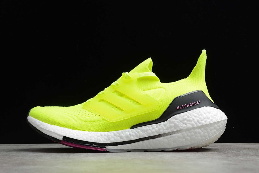 adidas Ultraboost 21 Yellow Black Pink FY0373 On Sale