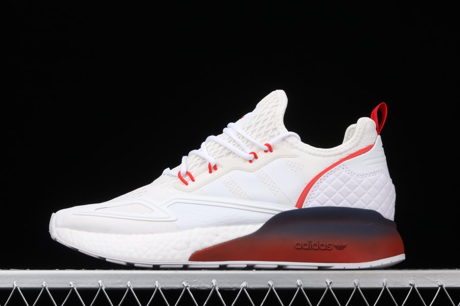 adidas ZX 2K Boost White Black Red FZ4640 Outlet