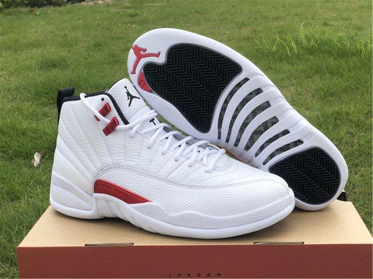 2021 Air Jordan 12 Twist White University Red Black CT8013-106