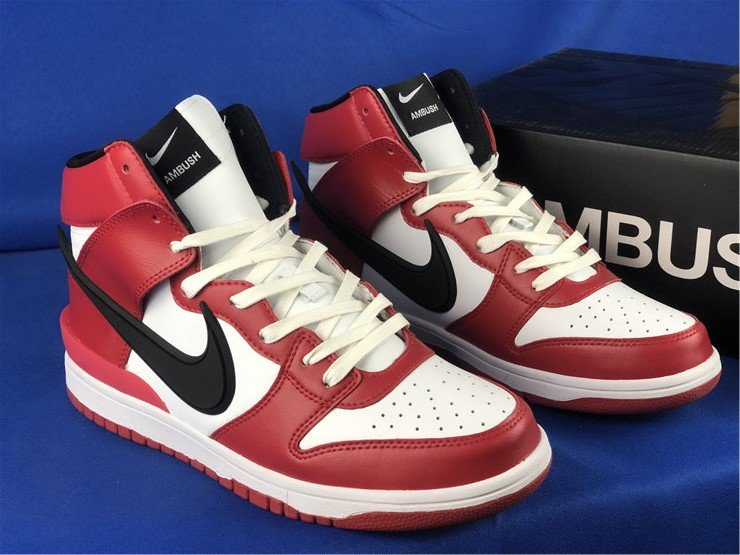 AMBUSH x Nike Dunk High Chicago Red