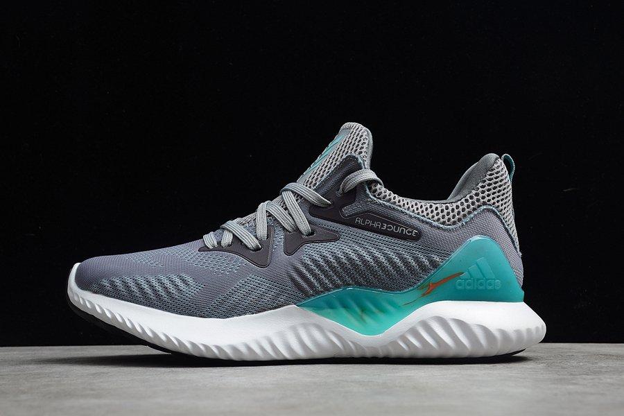 Mens Adidas Alphabounce Beyond M Gray Green White
