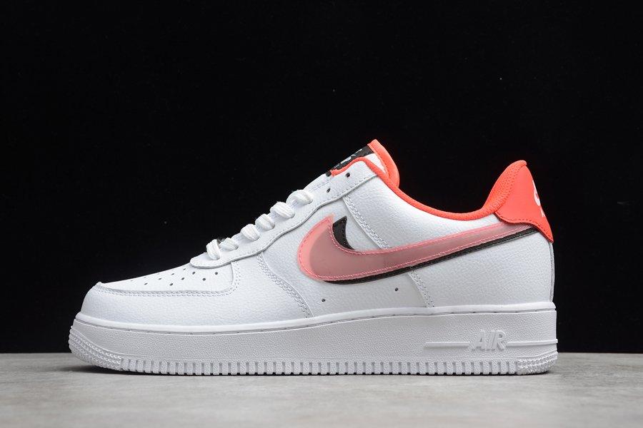 Nike Air Force 1 Low LV8 Double Swoosh White Black Bright Crimson