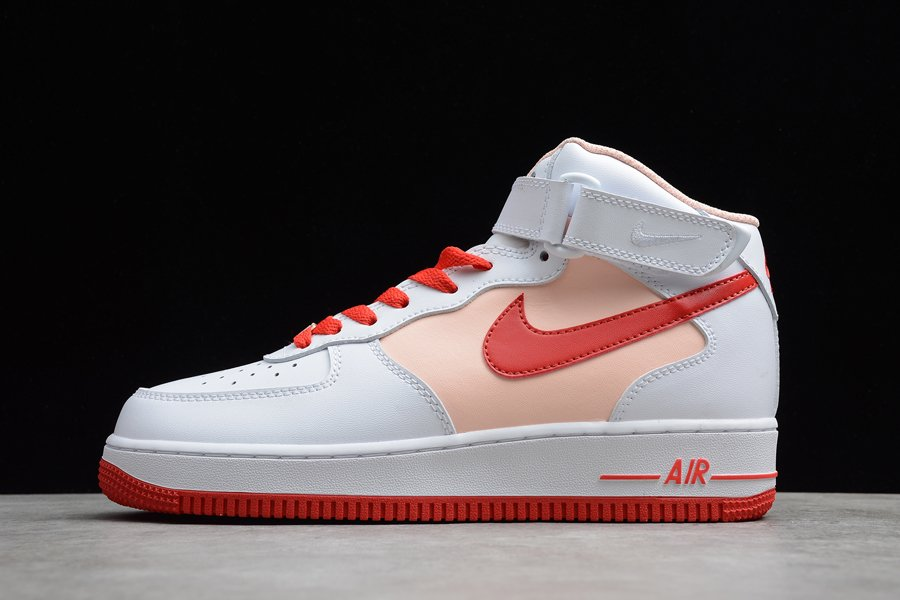 Nike Air Force 1 Mid White Red Pink