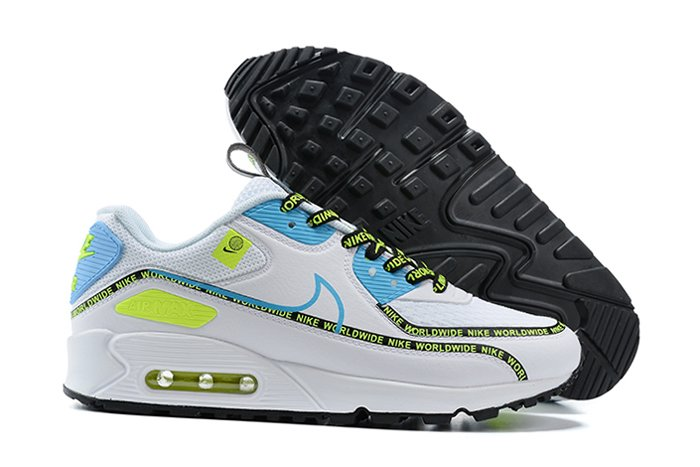 Nike Air Max 90 SE Worldwide Pack White Blue Fury-Black-Volt