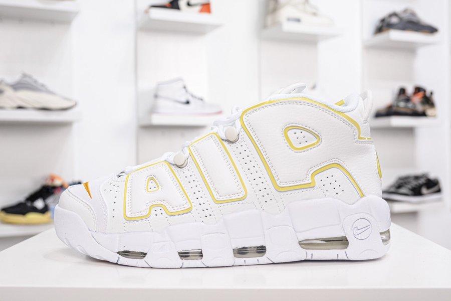 Nike Air More Uptempo Light Citron White Yellow DM3035-100 On Sale