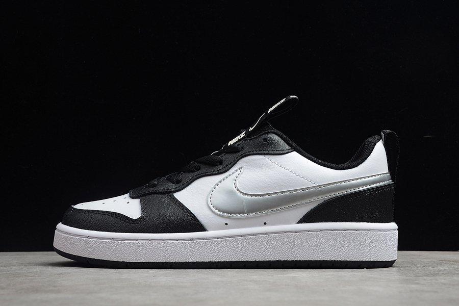 Nike Court Borough Low 2 SE White Black Metallic Silver