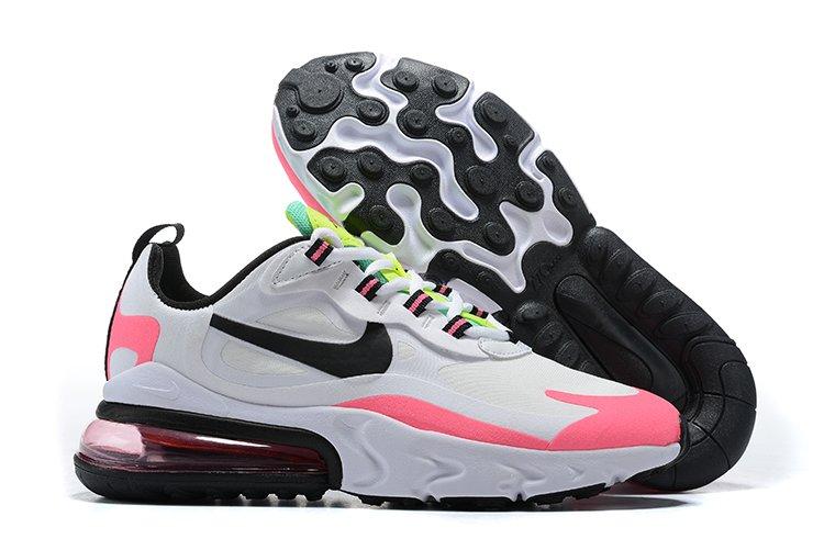 Nike Wmns Air Max 270 React White Hyper Pink-Black