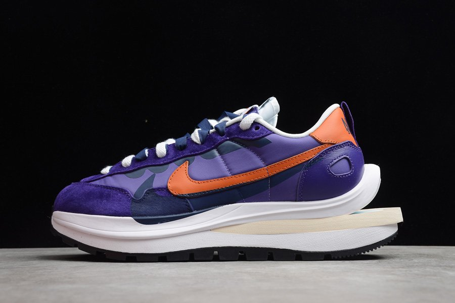 Nike x Sacai VaporWaffle Dark Iris Campfire Orange To Buy