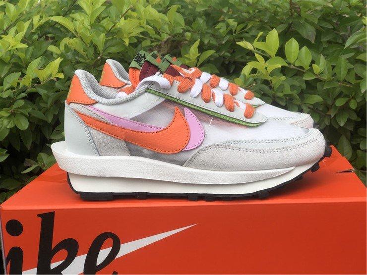 Womens CLOT x sacai x Nike LDWaffle Net Orange Blaze To Buy
