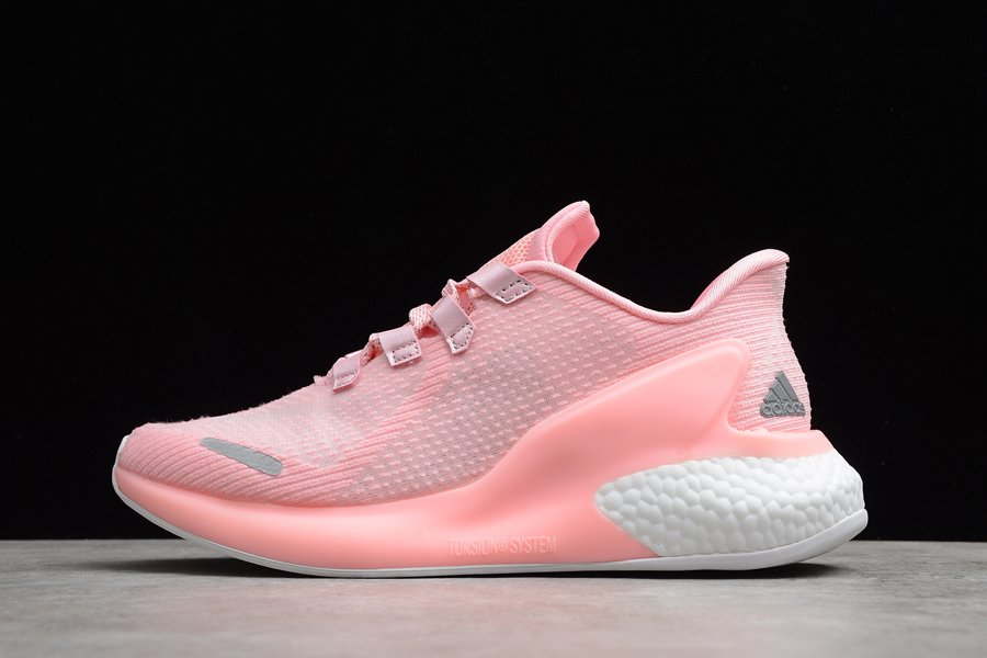 Womens adidas LAVA BOOST Pink Running Shoes
