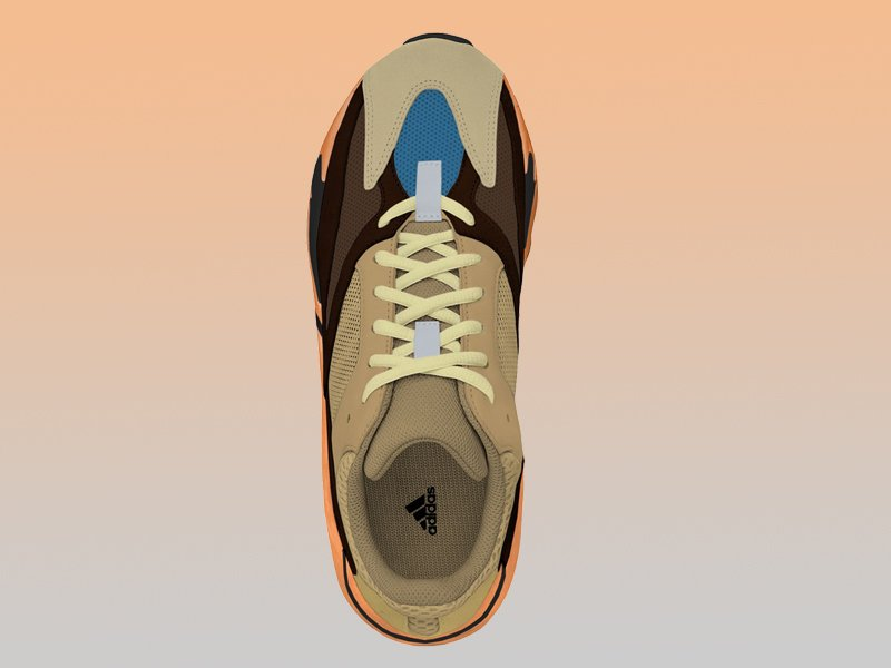 adidas Yeezy BOOST 700 Enflame Amber Top