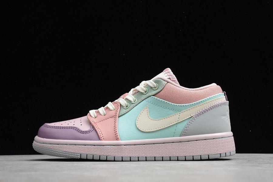 Air Jordan 1 Low Pastel Pink Plum Mint DJ5196-615 On Sale