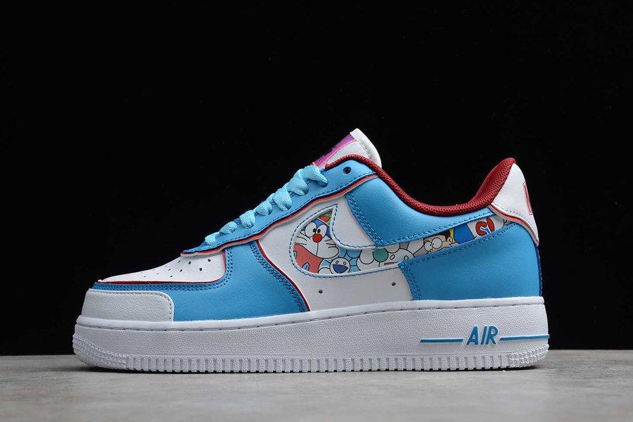 Doraemon x Nike Air Force 1 Low Custom Blue White Red
