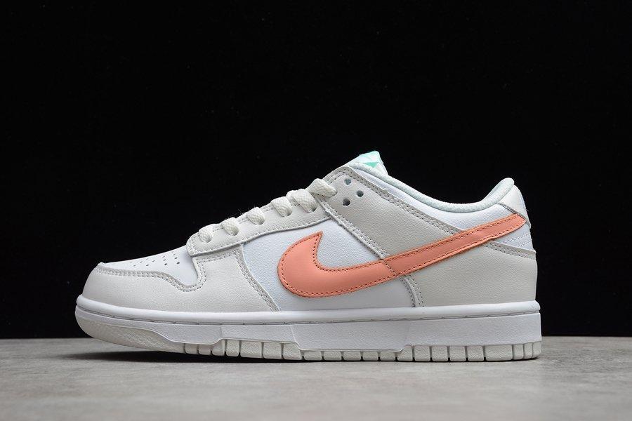 Mismatched Checks GS Nike Dunk Low White Bone Peach Aqua