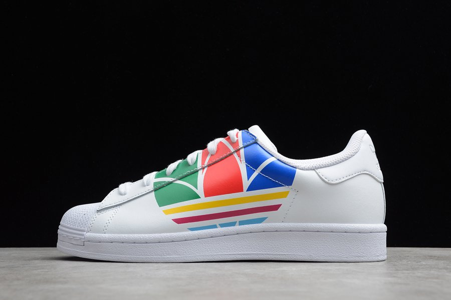 adidas Superstar Pure Shoes Cloud White Red Blue FU9519 Online Kopen