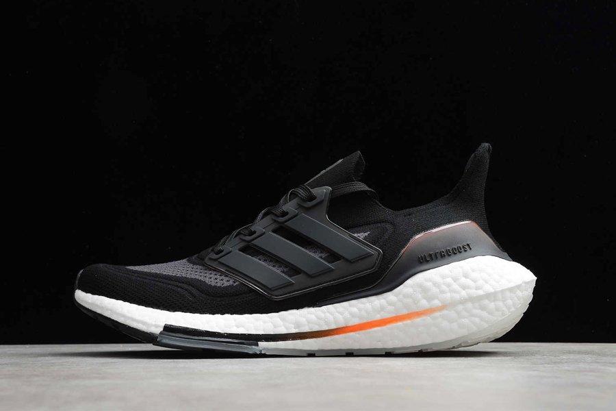 adidas Ultraboost 21 Black Grey Screaming Orange FY0372 To Buy