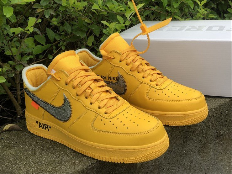 Buy Off-White x Nike Air Force 1 Low University Gold DD1876-700