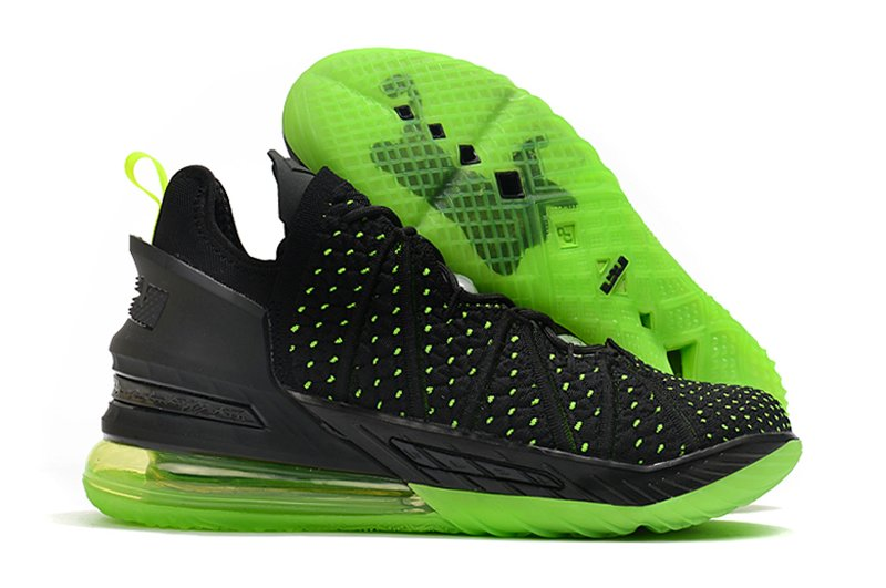 CQ9283-005 Nike LeBron 18 Dunkman Black Green