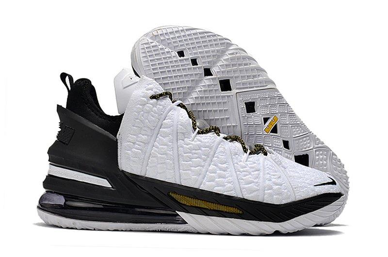CQ9283-100 Nike LeBron 18 Home White Black Gold
