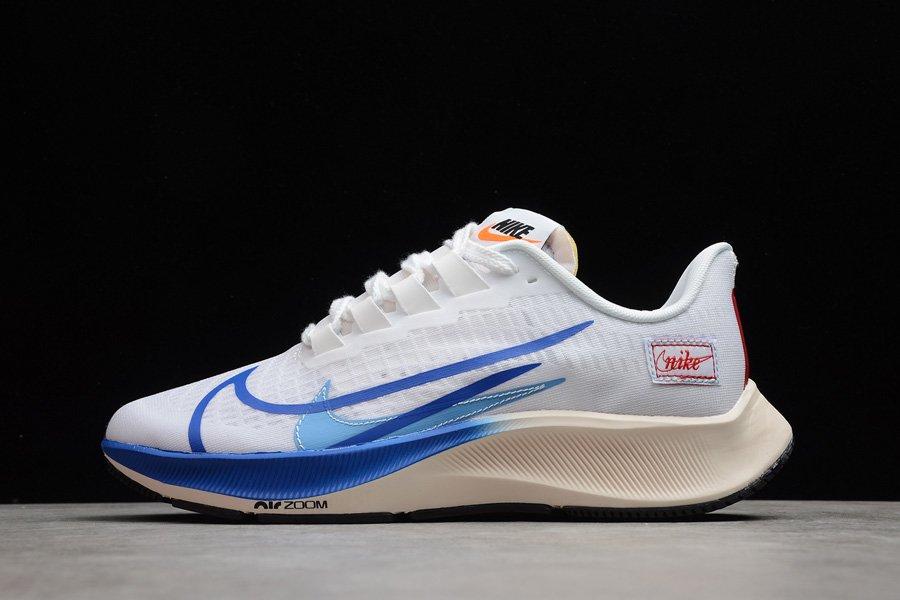CQ9908-100 Nike Air Zoom Pegasus 37 White Game Royal Running Shoes