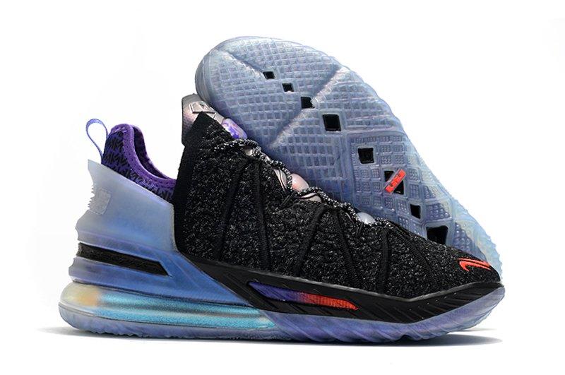 DB8148-001 Nike LeBron 18 The Chosen 2 Black Purple
