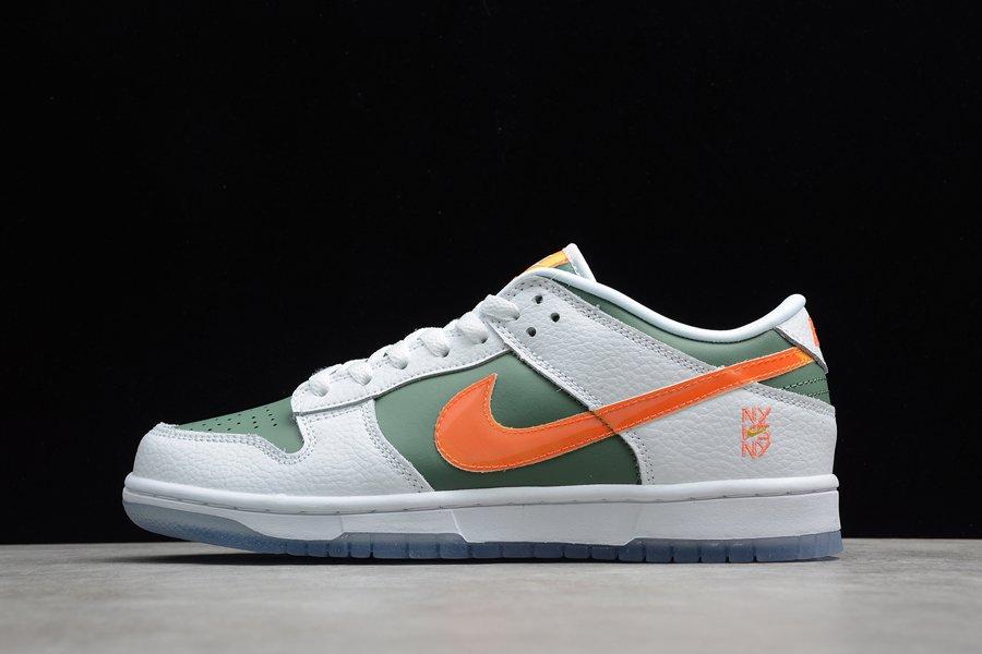 DN2489-300 Nike Dunk Low NY vs NY White Green Orange