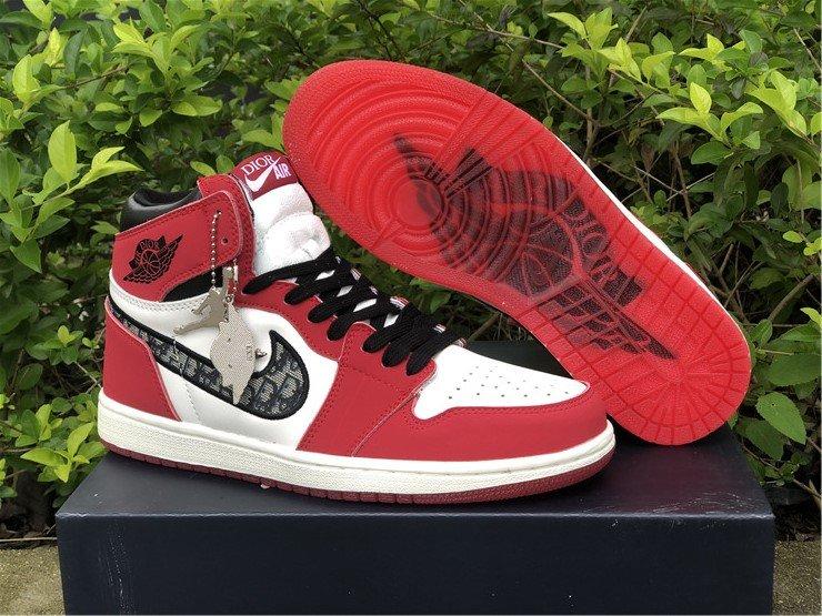 Dior X Air Jordan 1 High OG Chicago White Red Black