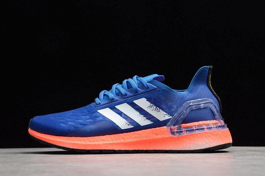 Mens Adidas Ultraboost PB Running Shoes Blue Orange