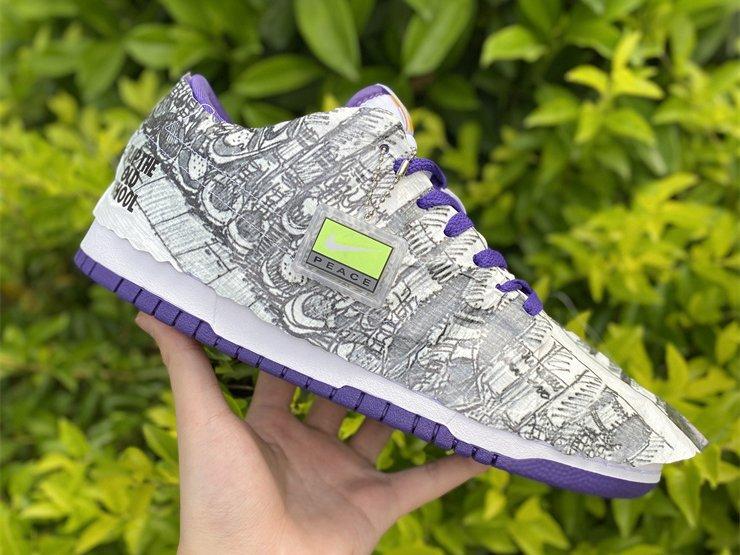 Nike Dunk Low Flip The Old School White Varsity Purple DJ4636-100 On Sale