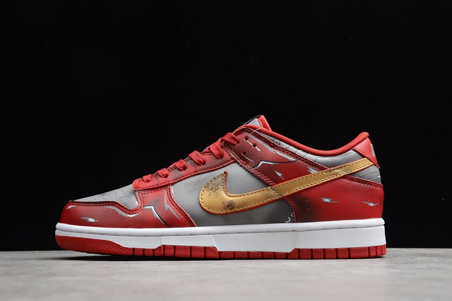 Nike Dunk Low Red Silver Gold On Sale