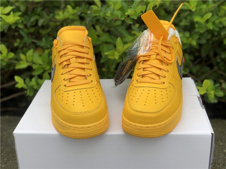 Off-White x Nike Air Force 1 Low University Gold DD1876-700 Front