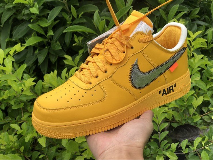 Off-White x Nike Air Force 1 Low University Gold DD1876-700 On-Hand