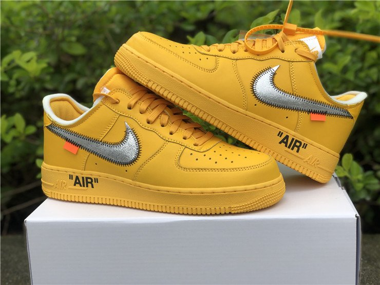 Off-White x Nike Air Force 1 Low University Gold DD1876-700 on Sale
