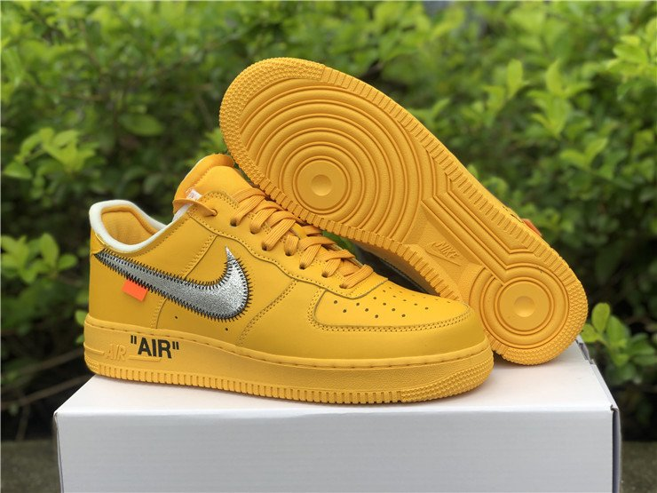 Off-White x Nike Air Force 1 Low University Gold DD1876-700