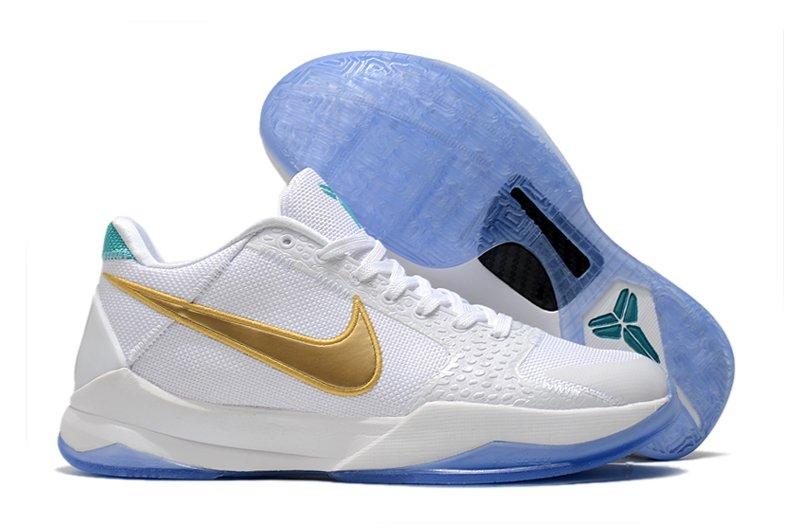 Undefeated x Nike Kobe 5 Protro Unlucky 13 White Gold