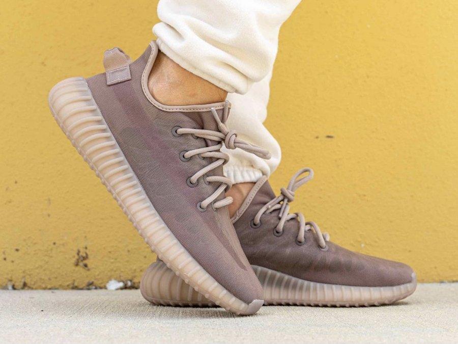 adidas Yeezy Boost 350 V2 Mono Mist On Feet