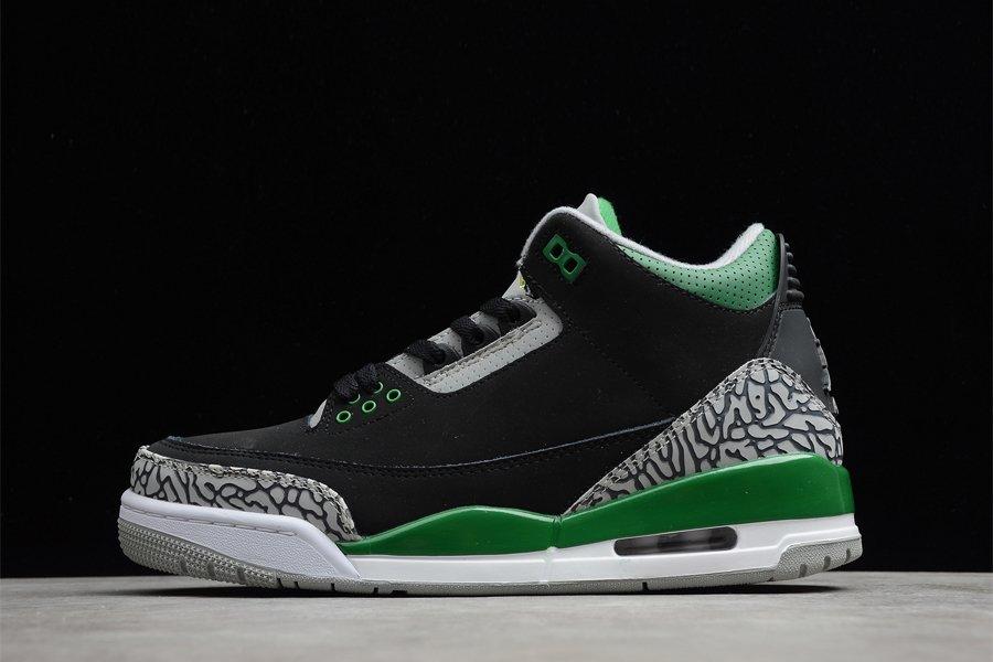 2021 Air Jordan 3 Black Pine Green-Cement Grey To Buy