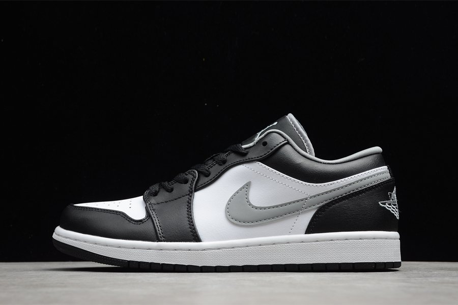 Air Jordan 1 Low Black Medium Grey-White 553558-040 To Buy