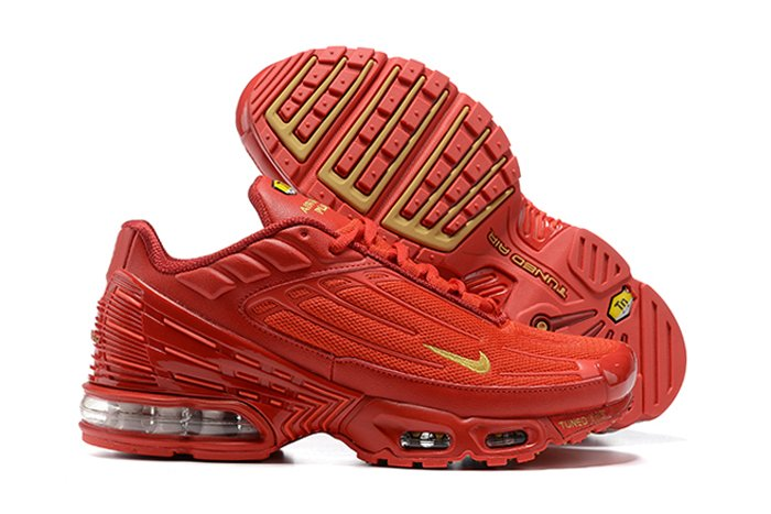 CK6715-600 Nike Air Max Plus 3 Iron Man Crimson Red Gold
