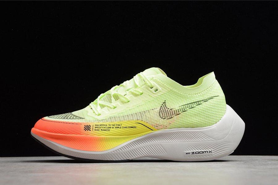 CU4111-700 Nike ZoomX Vaporfly Next 2 Yellow Orange Bright Neon Green