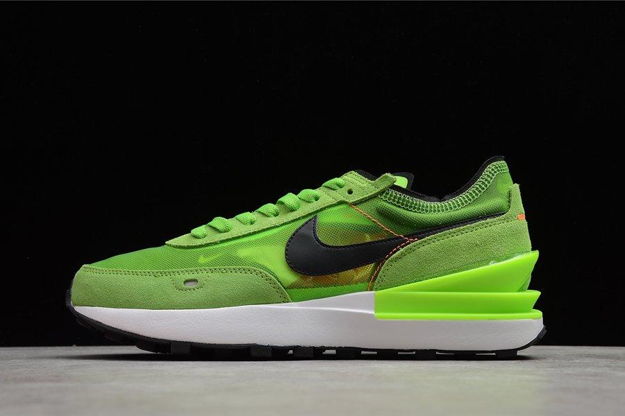 DA7995-300 Nike Waffle One Electric Green Black-Mean Green