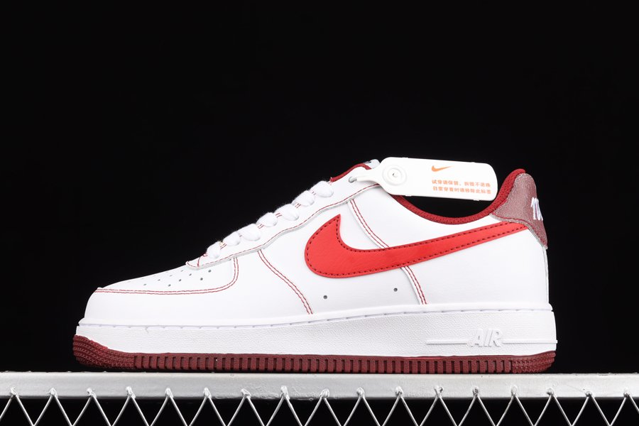 DA8478-101 Nike Air Force 1 07 First Use White Team Red To Buy