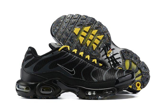 DD7112-002 Nike Air Max Plus Black Yellow Mens Size