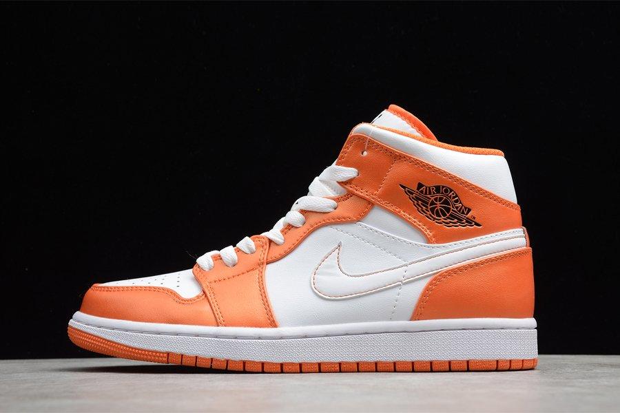 DM3531-800 Air Jordan 1 Mid White Orange