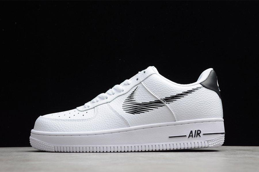 DN4928-100 Nike Air Force 1 Low Zig-Zagged Swoosh White Black