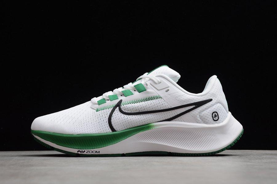 Nike Air Zoom Pegasus 38 White Green Black Running Shoes