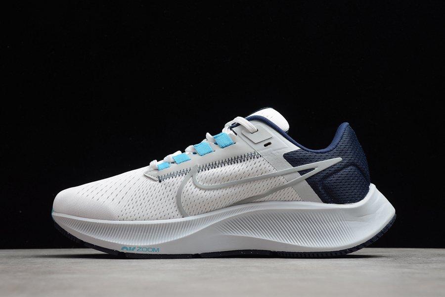 Nike Air Zoom Pegasus 38 White Pure Platinum Midnight Navy Wolf Grey